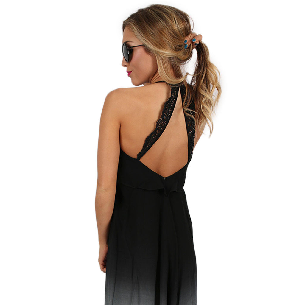 Vacation In Maui Maxi in Black