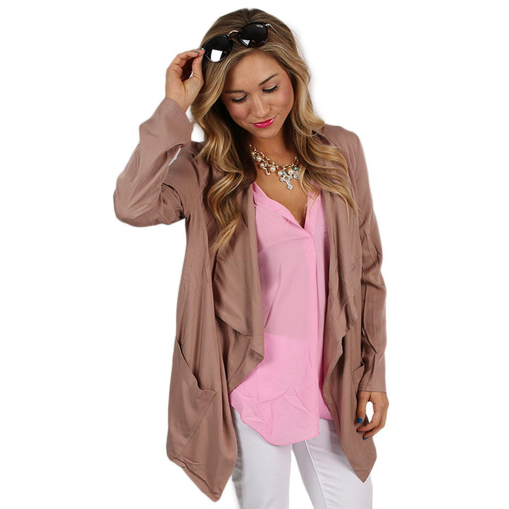 Single in the City Blazer Mocha