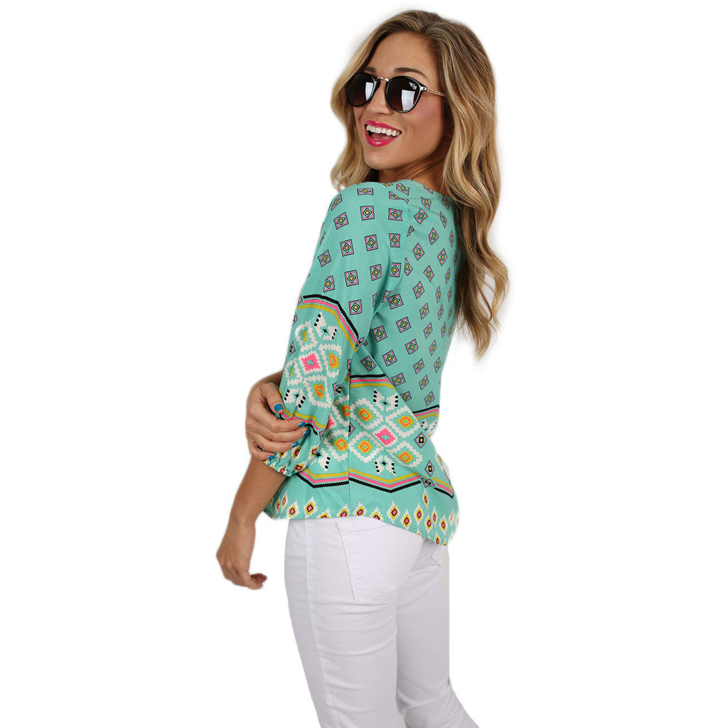 Aztec Party Top