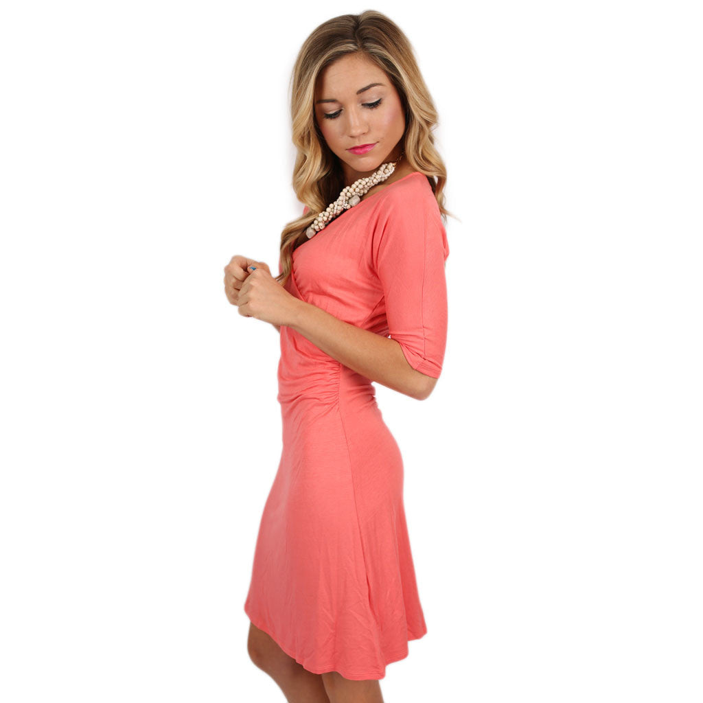 Dancing In The Moonlight Dress in Coral