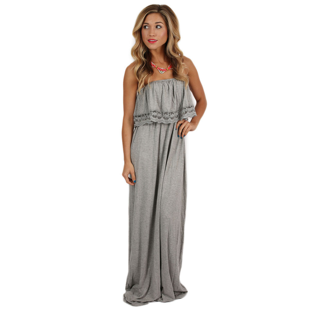 Shop 'Til I Drop Maxi in Grey