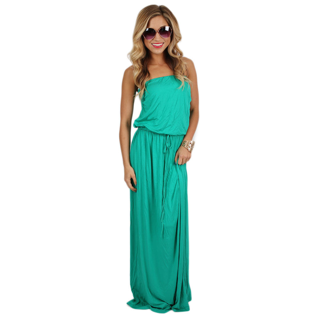 Vogue & Peonies Maxi in Jade