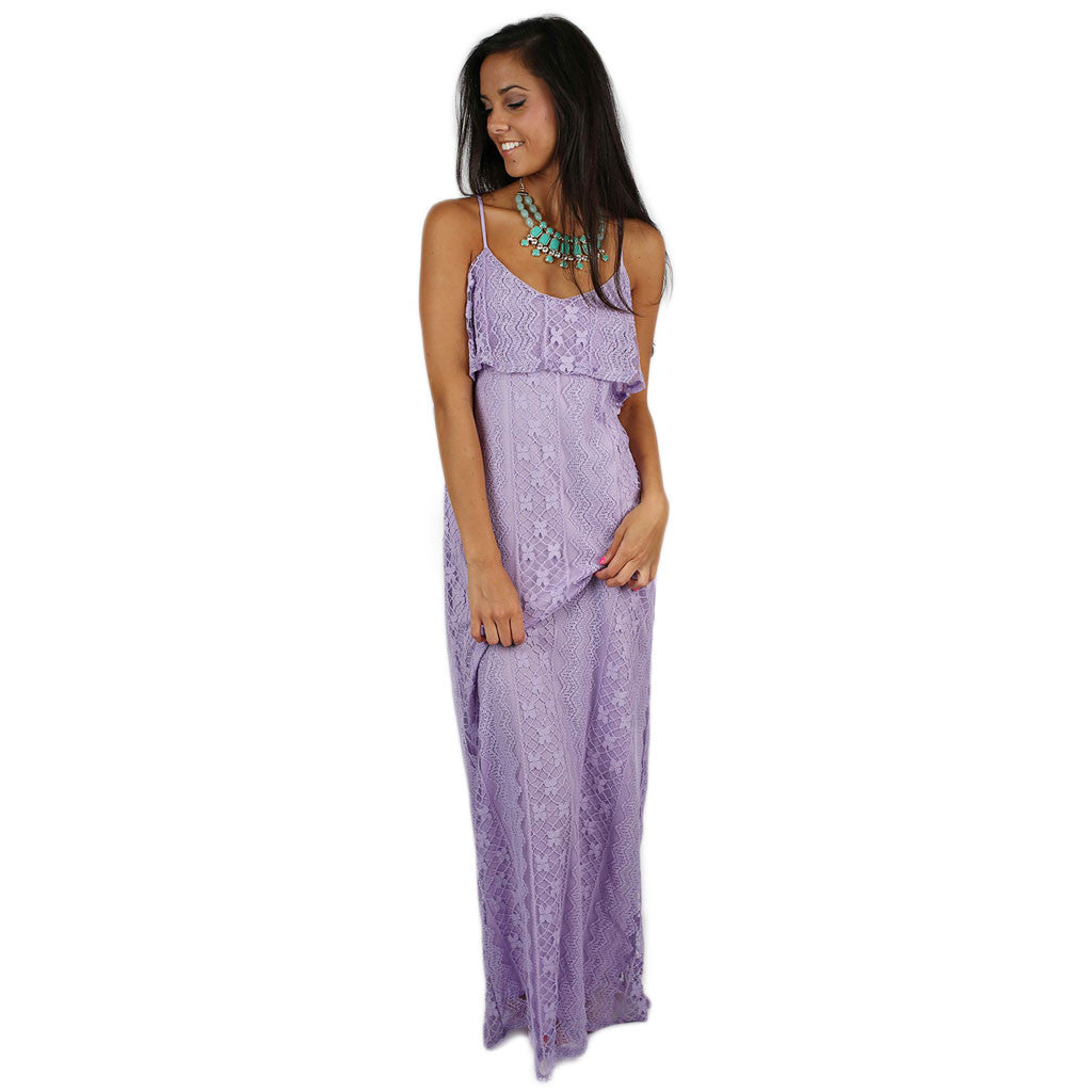 I'm On Beach Time Maxi in Lavender