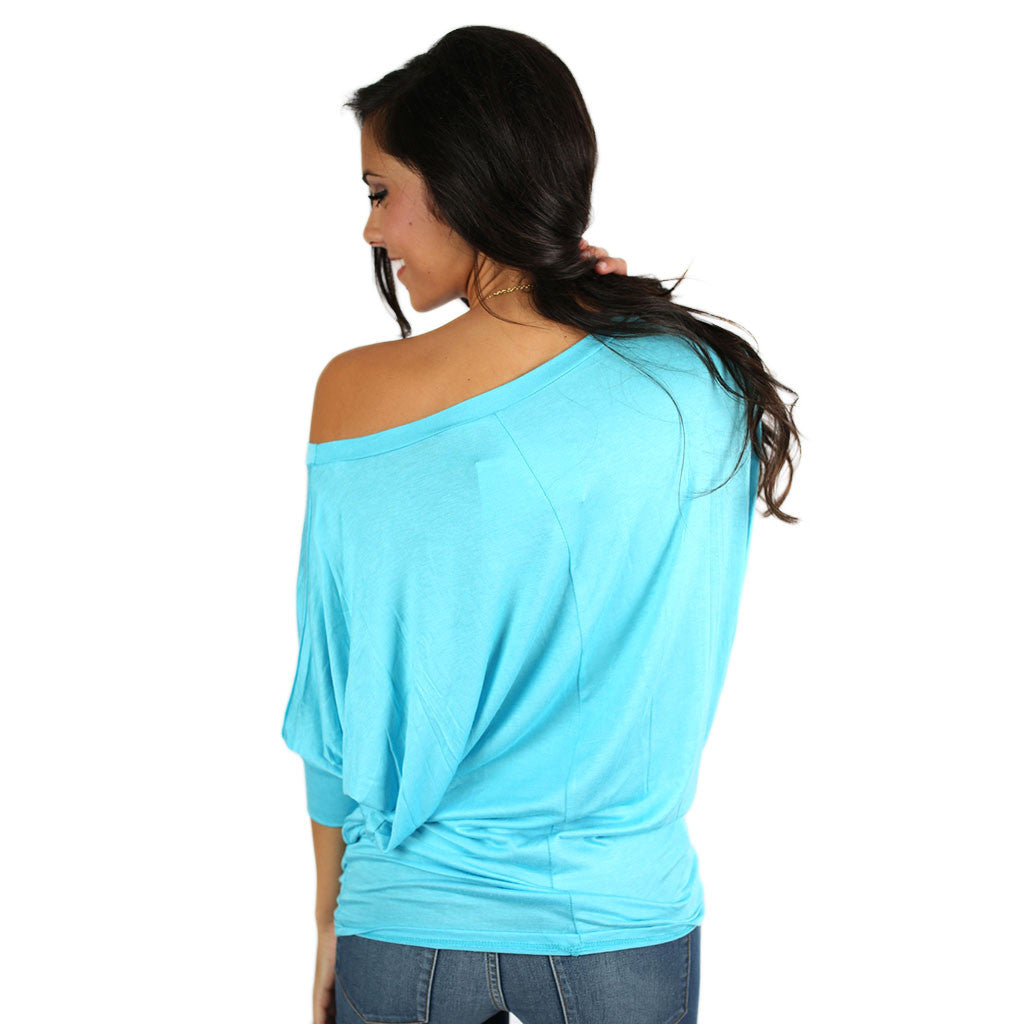 Living In Color Tee in Aqua