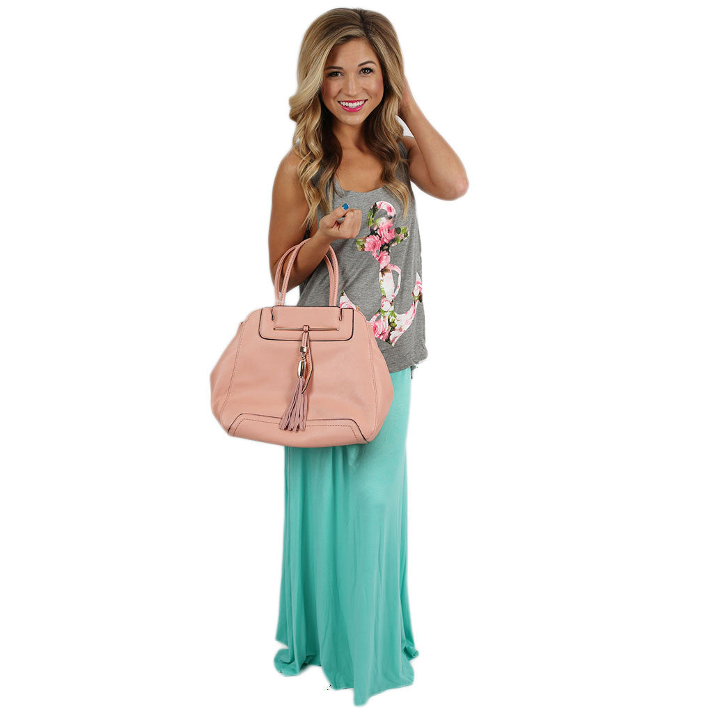 Not So Basic Maxi Skirt in Mint