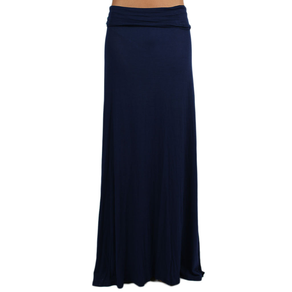 Not So Basic Maxi Skirt in Navy