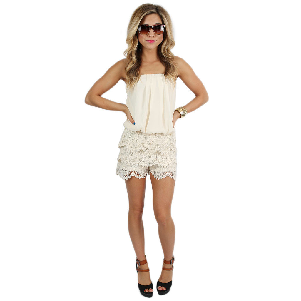 Born For Hollywood Romper in Ivory