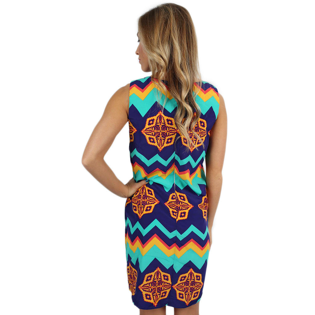 Preppy & Pretty Shift Dress in Royal Blue