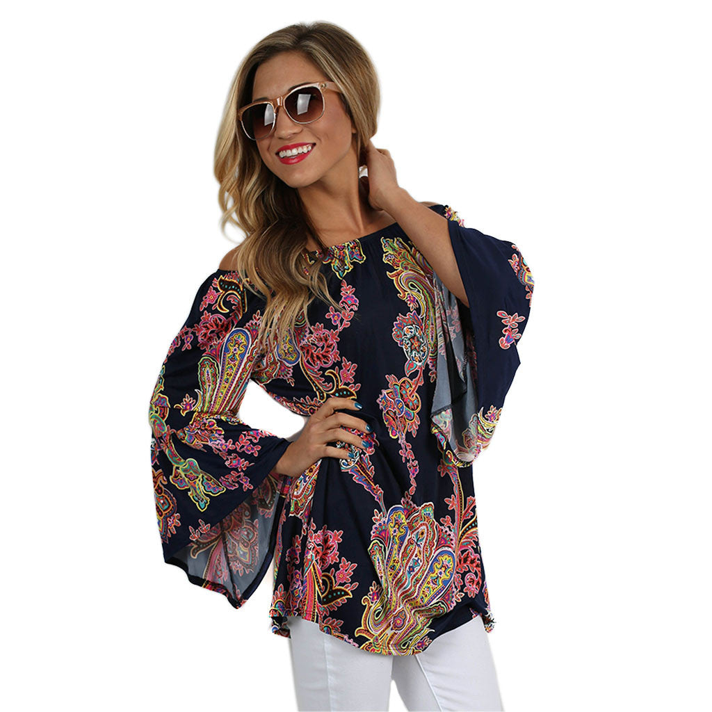 The Sky is the Limit Tunic Navy
