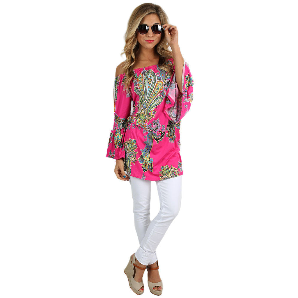 The Sky is the Limit Tunic Fuchsia