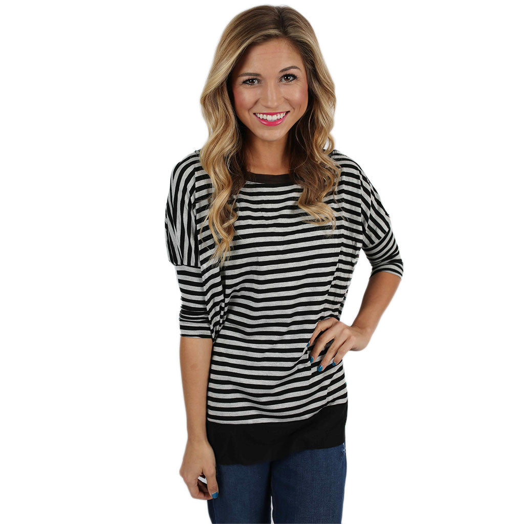 Dickson Striped Tee Black