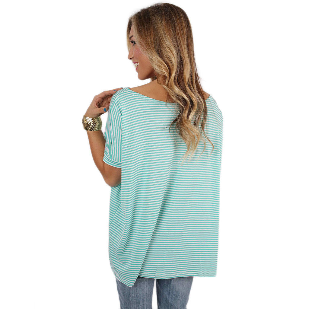 PIKO Short Sleeve Tiny Stripe in Mint