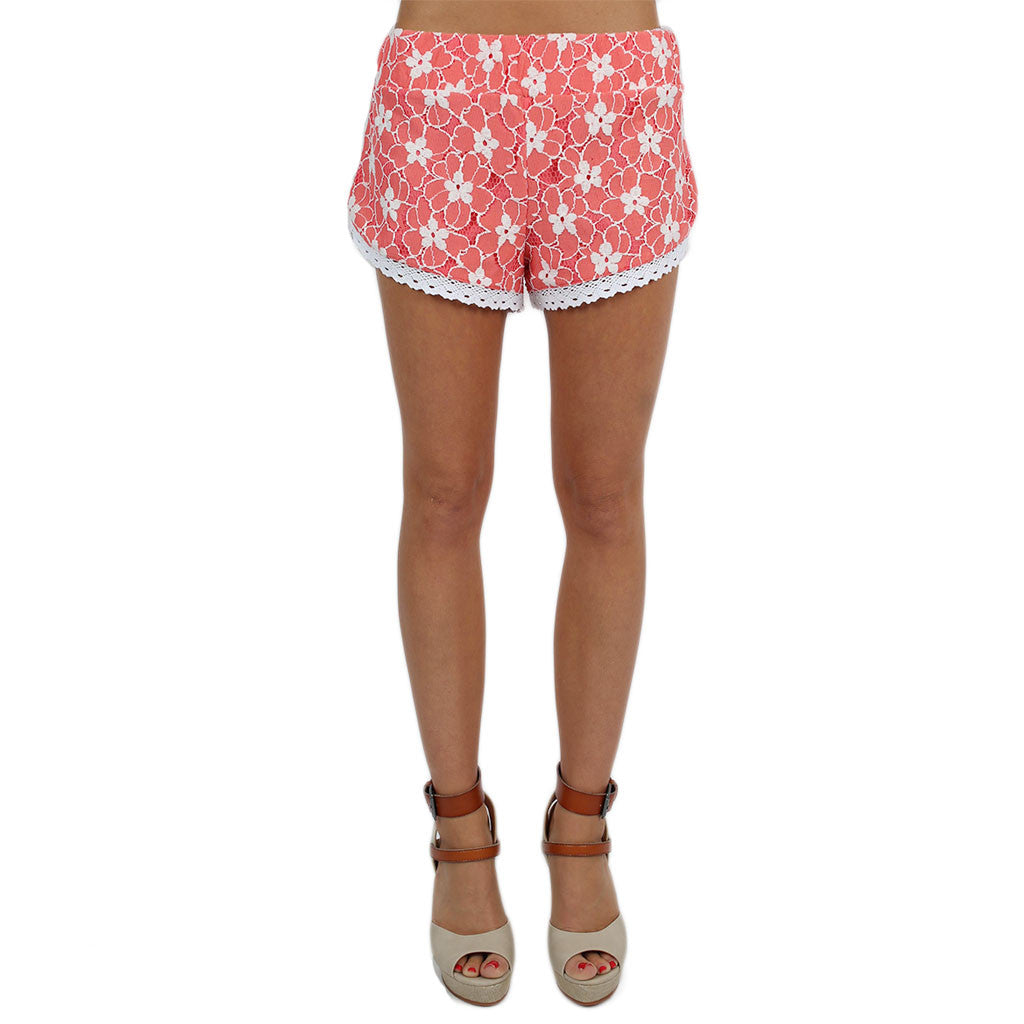 Walking On Sunshine Shorts Coral