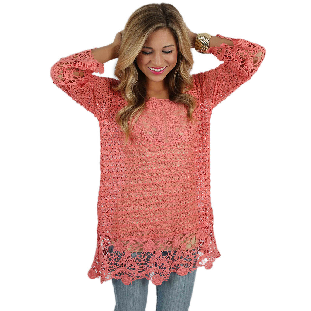 Lucky In Lace Coral