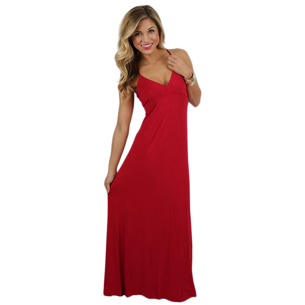 Wanderlust Maxi Dress in Red