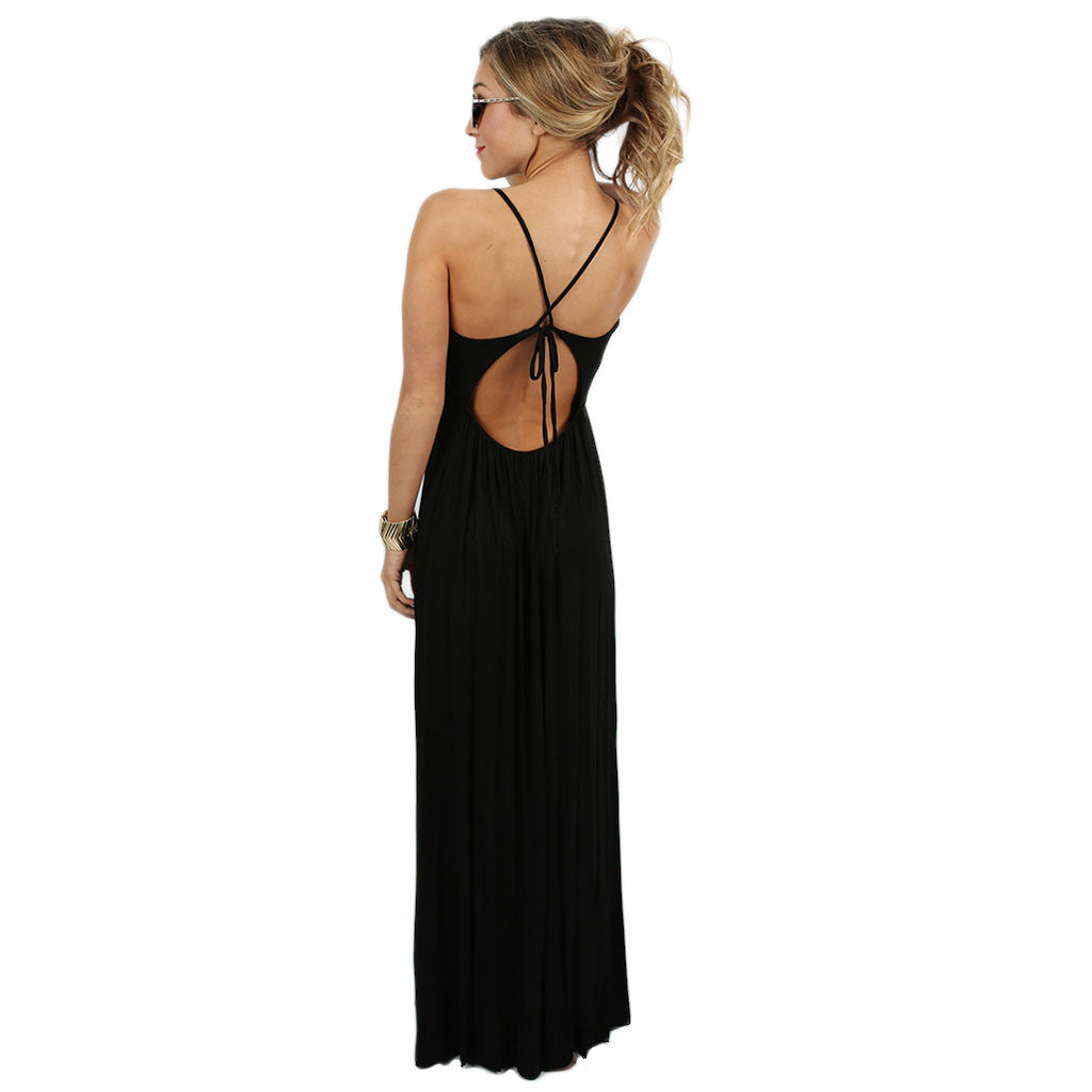 Wanderlust Maxi Dress in Black