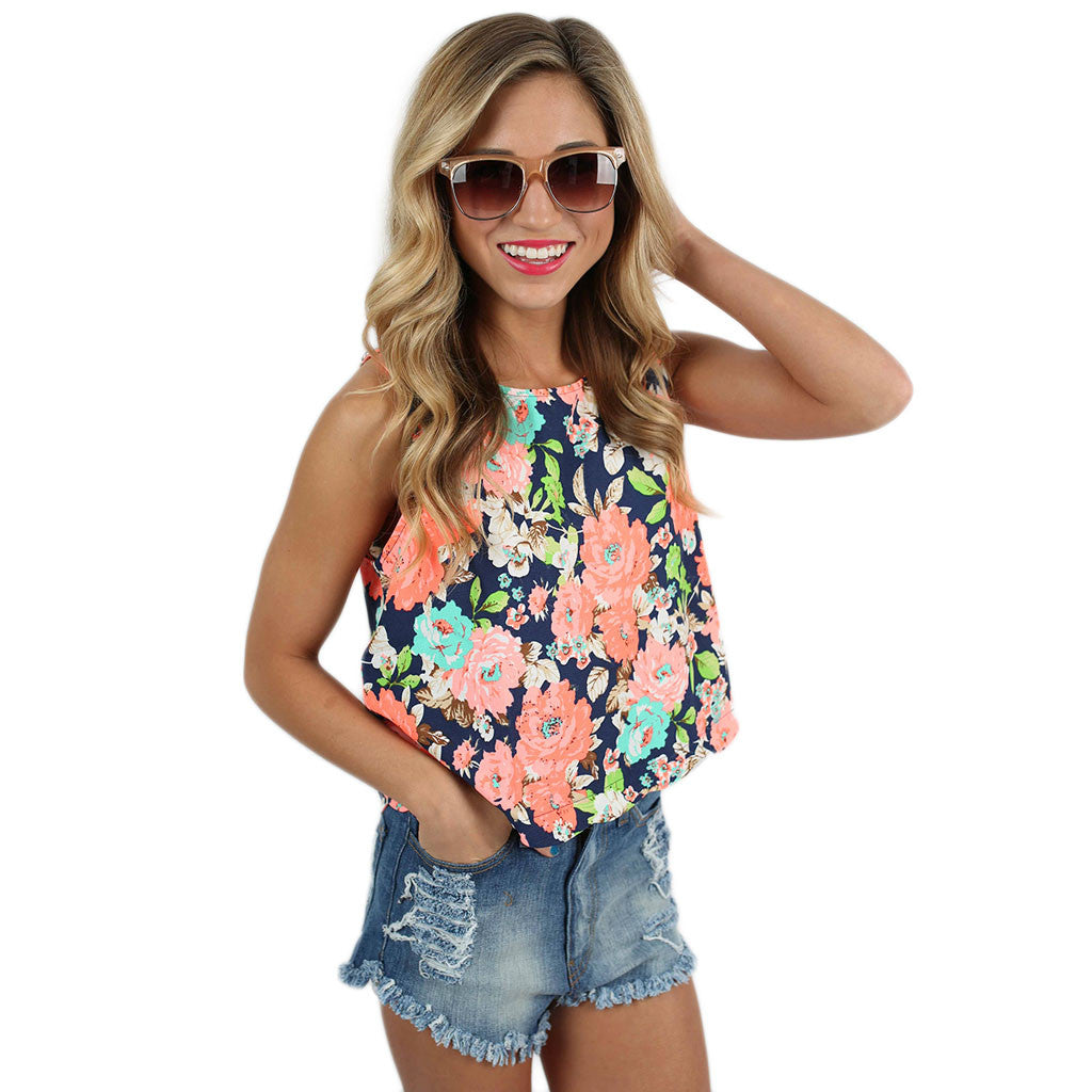 Vacation Dreams Top Navy