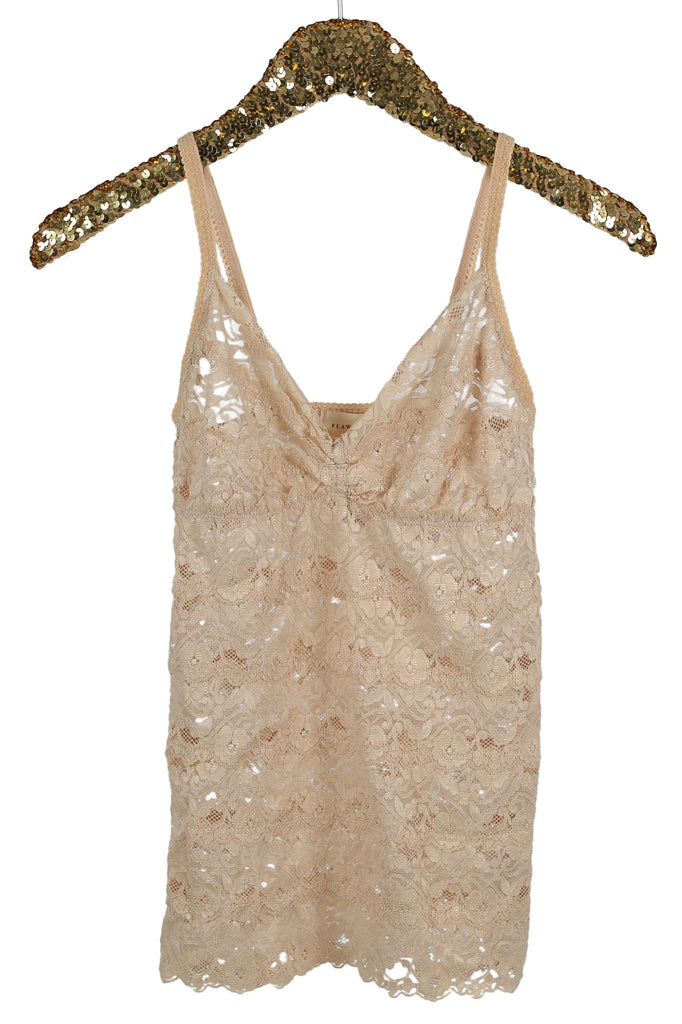 Lola Lace Cami Top in Nude