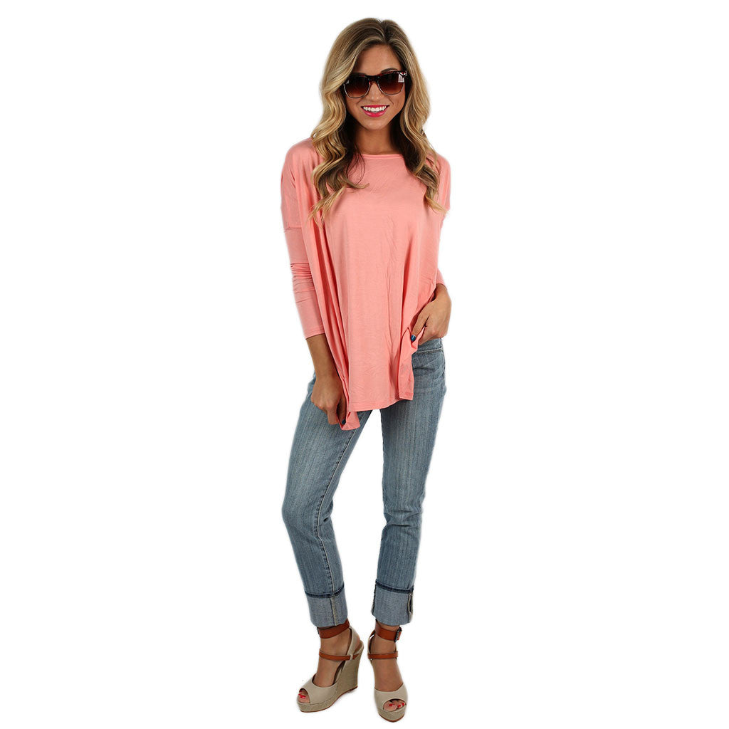 PIKO Tee in Peach