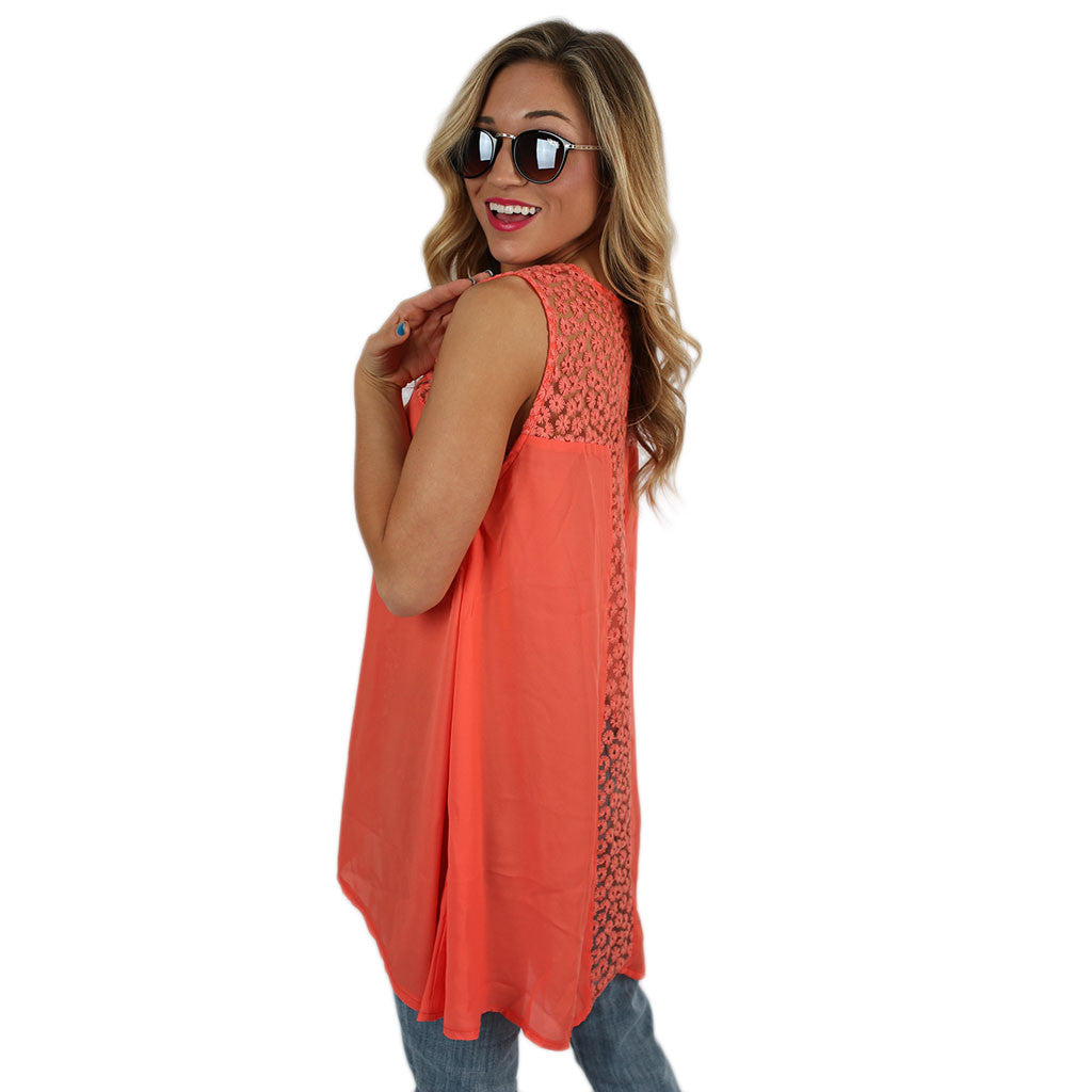 Daisy Days Tank in Coral