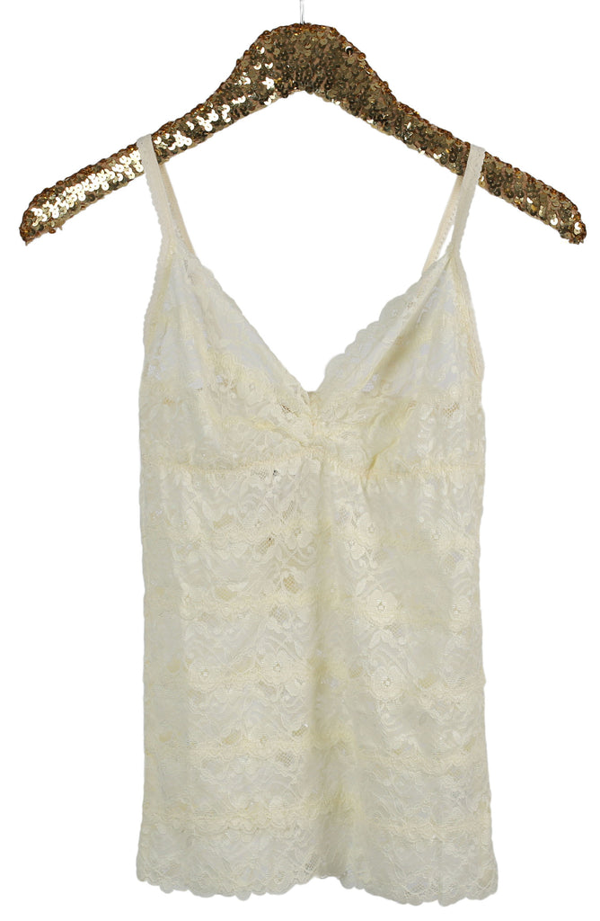 Lola Lace Cami Top in Cream