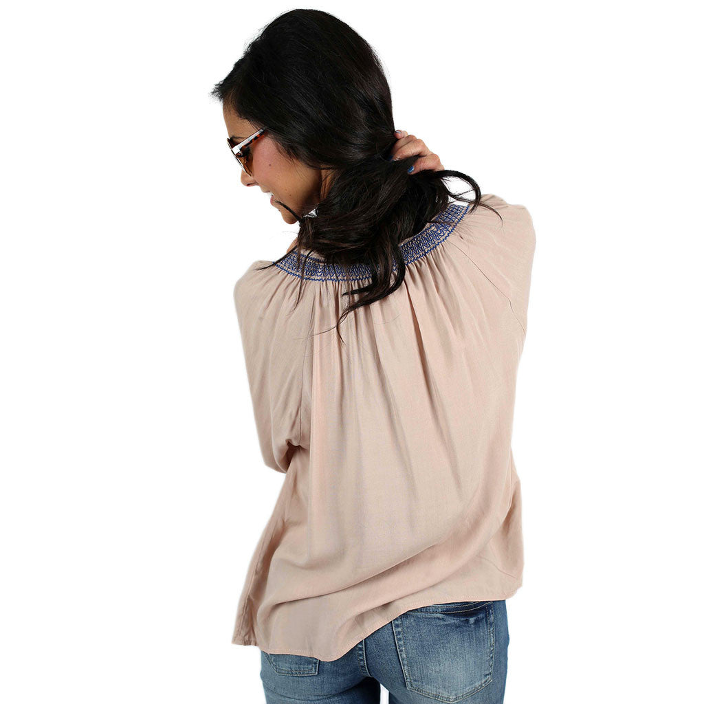 Pretty Boho Tunic in Taupe