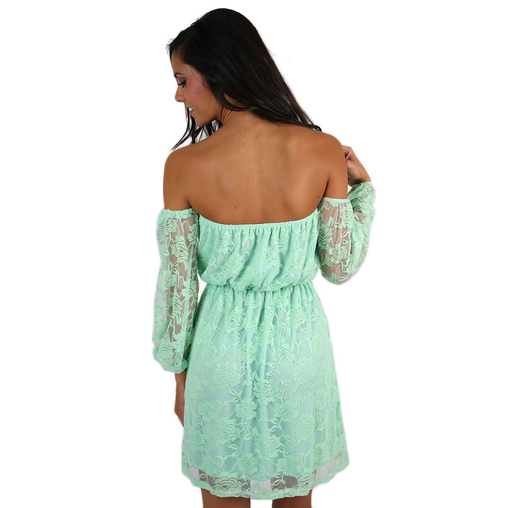 Rosewater & Lace Dress Mint
