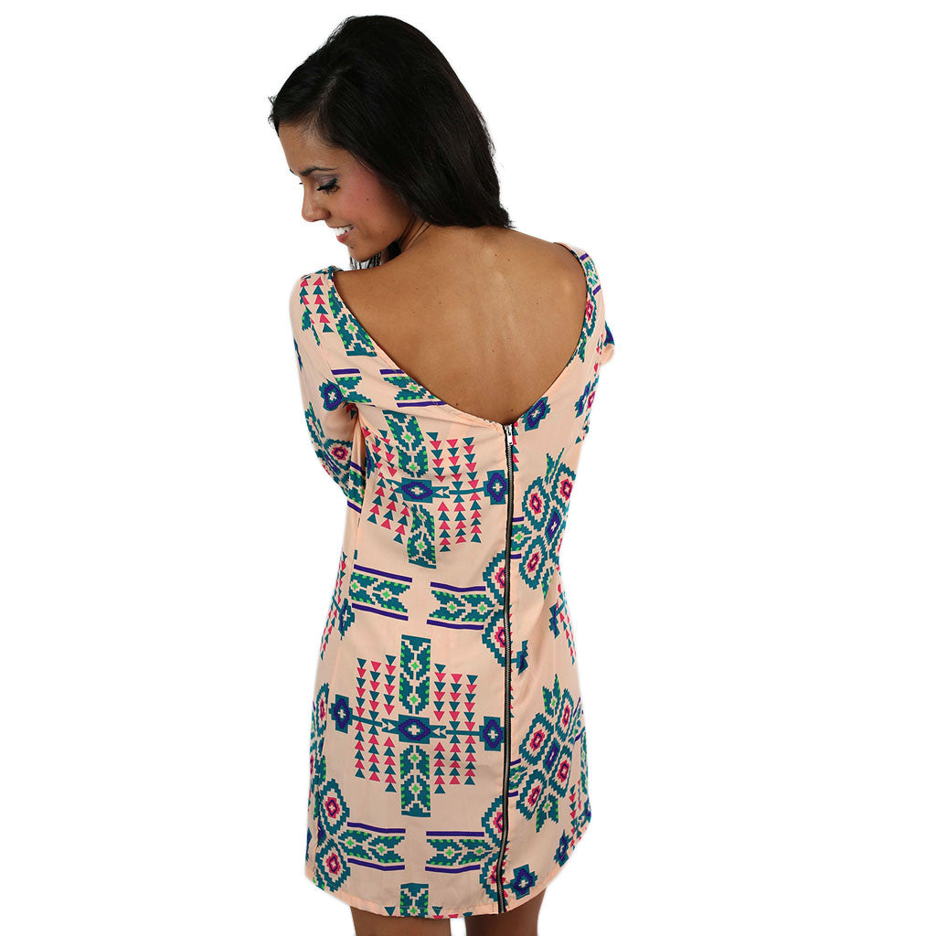 Tribal Beauty Dress Peach