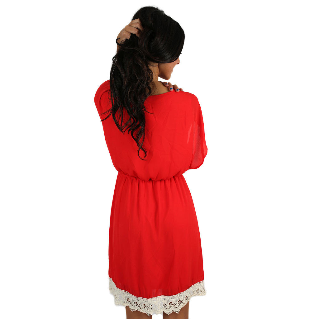 Southern Sunsets Dress in Red