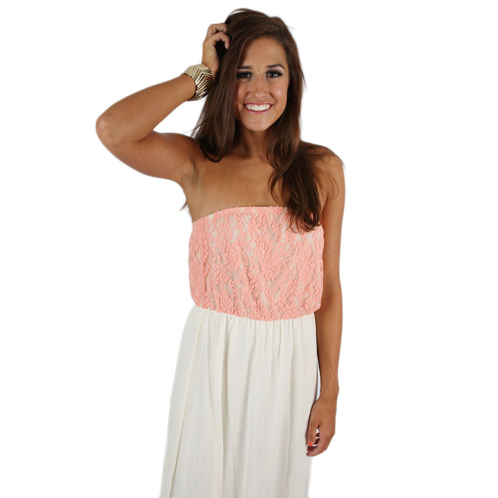 Sweetheart Maxi in Peach