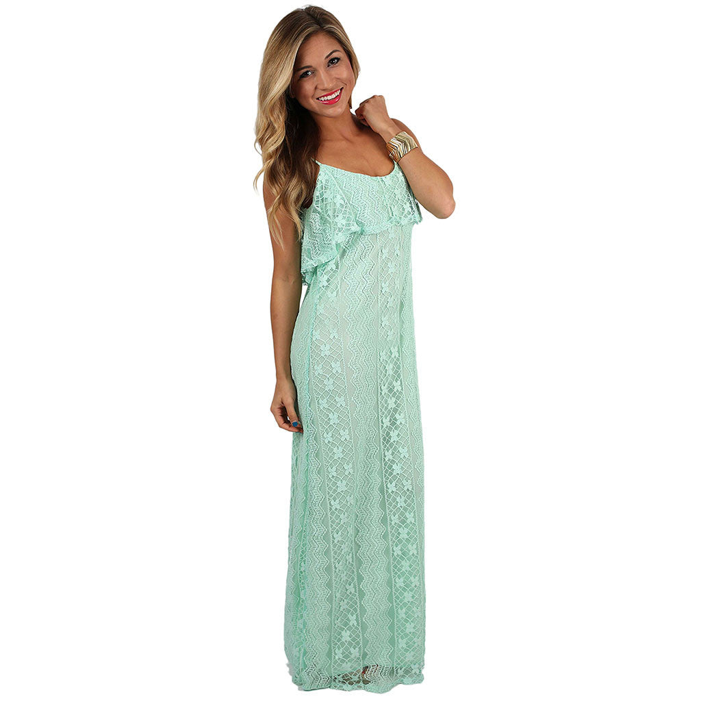 I'm On Beach Time Maxi in Mint