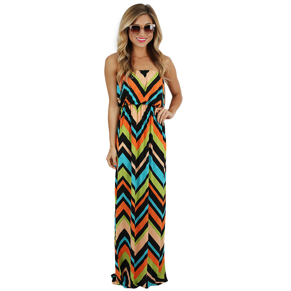 Patio Season Maxi in Orange/Lime