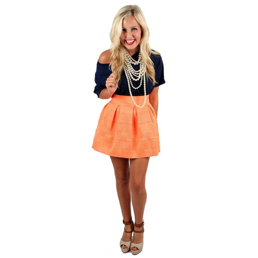 Got To Have It Skirt in Neon Orange
