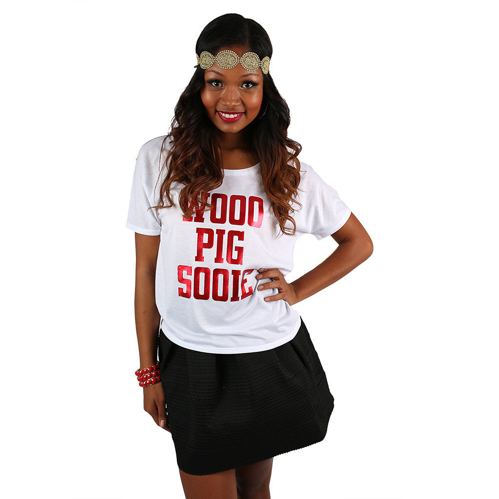 Simple Tee Woo Pig Sooie in White