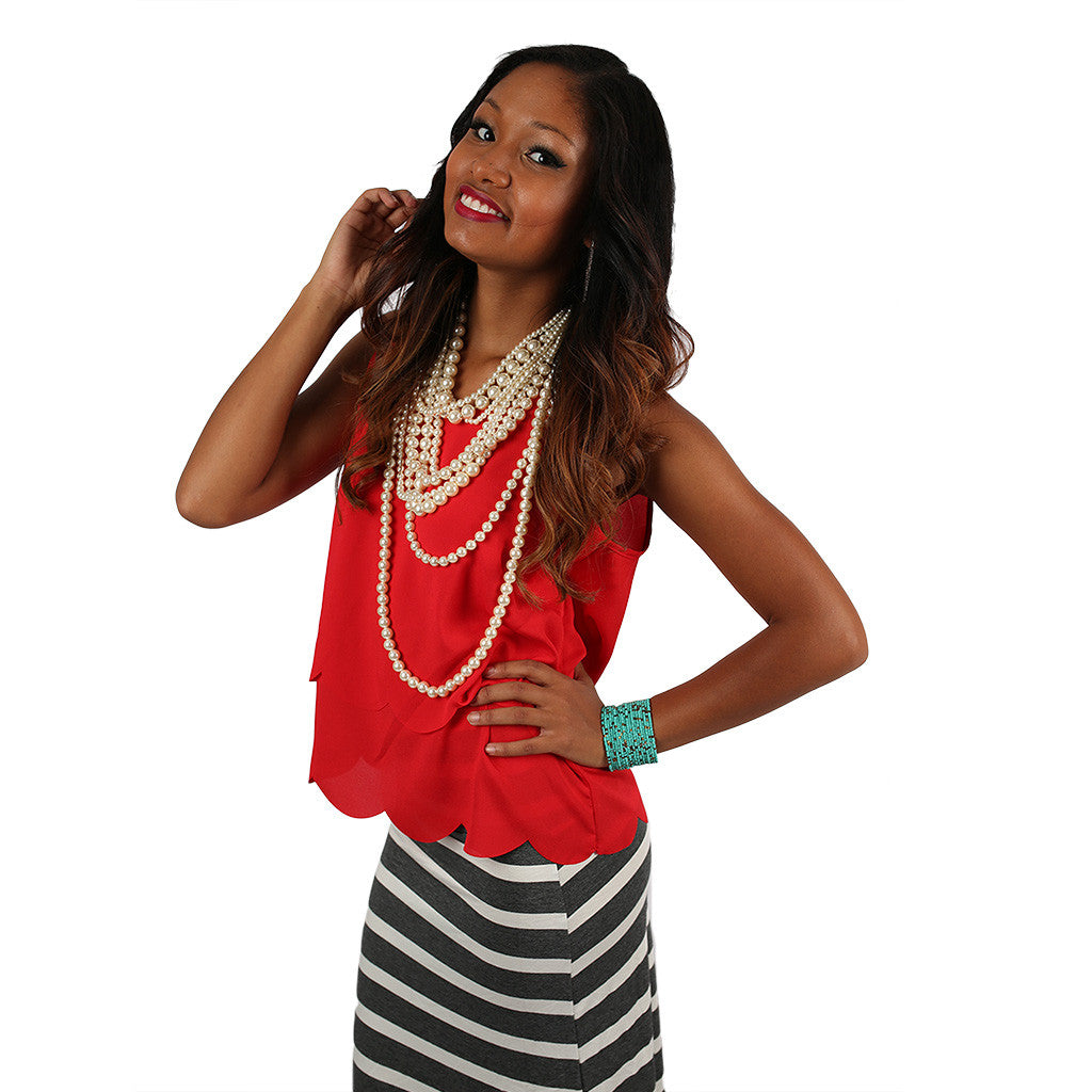 Personality Perfection Tank in Red