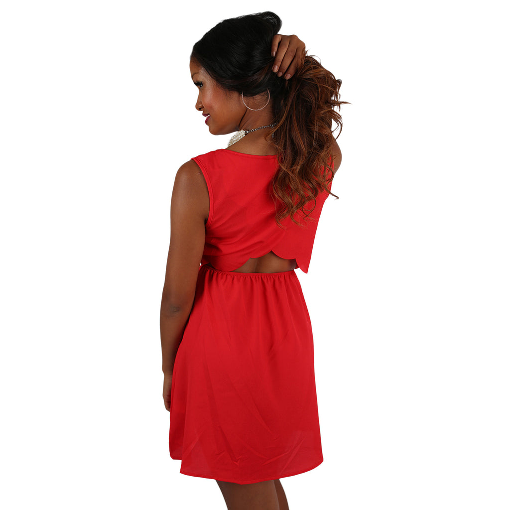 Girl's Night Glam Dress in Red