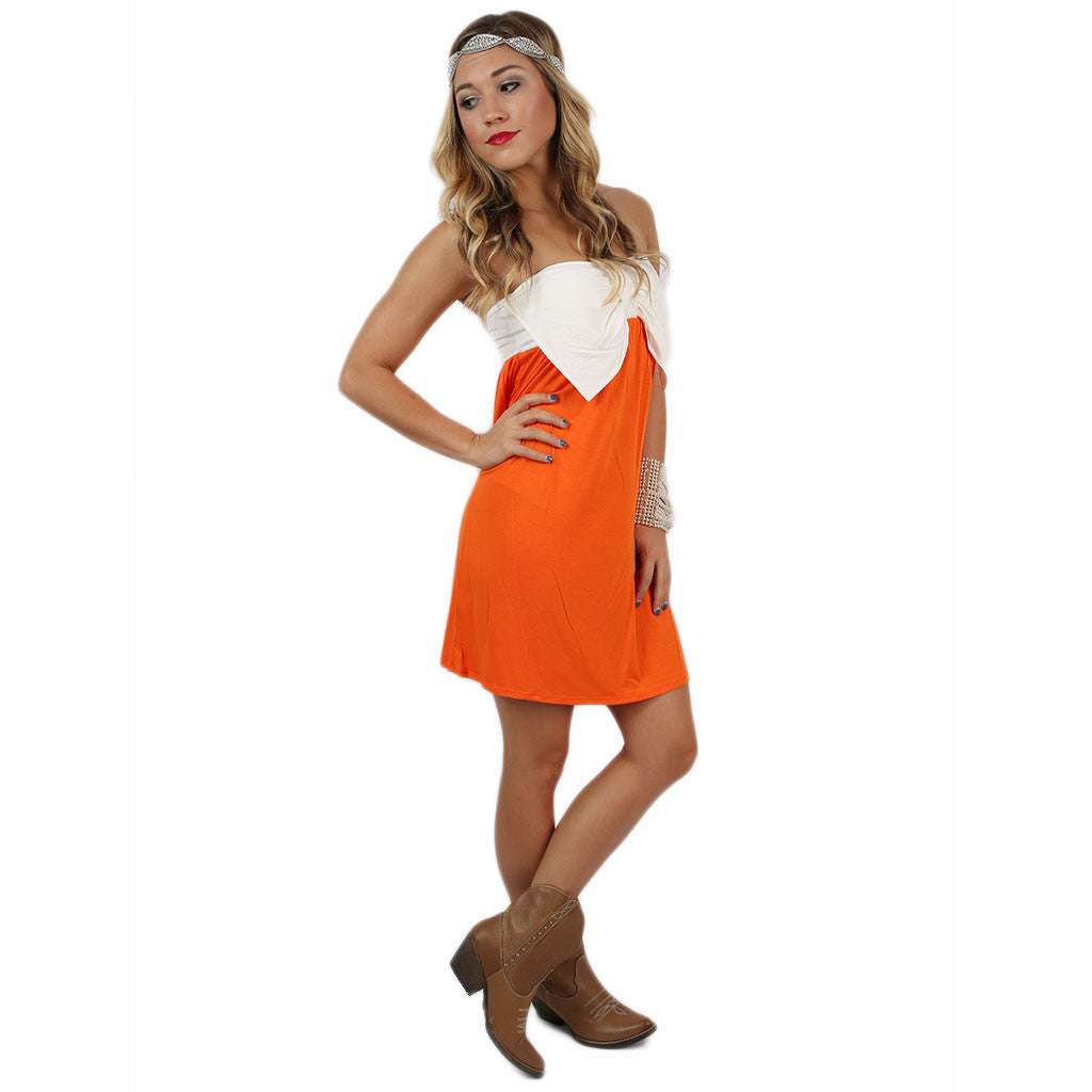 Born to Tailgate Dress Orange