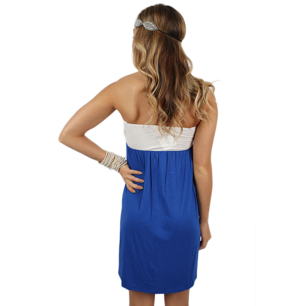 Born to Tailgate Dress Royal Blue