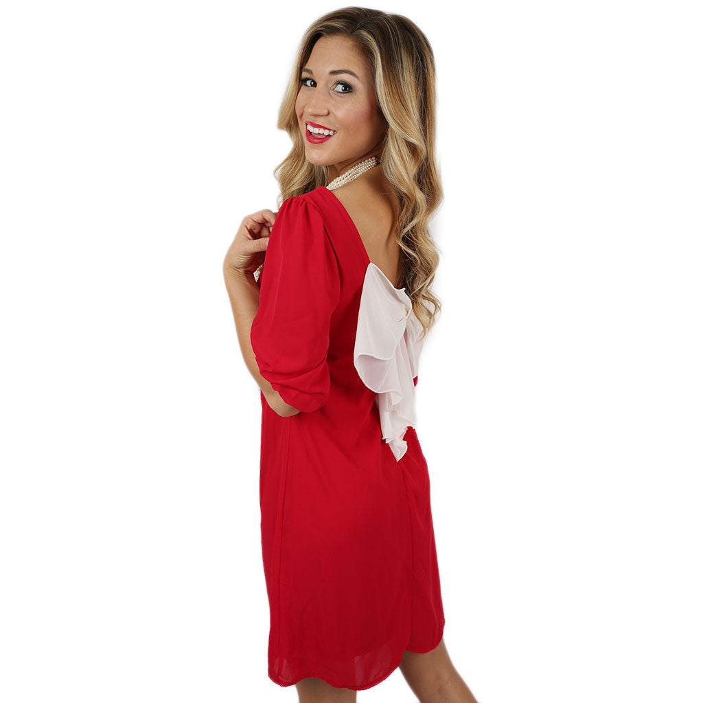 Bows & Kisses Dress Red
