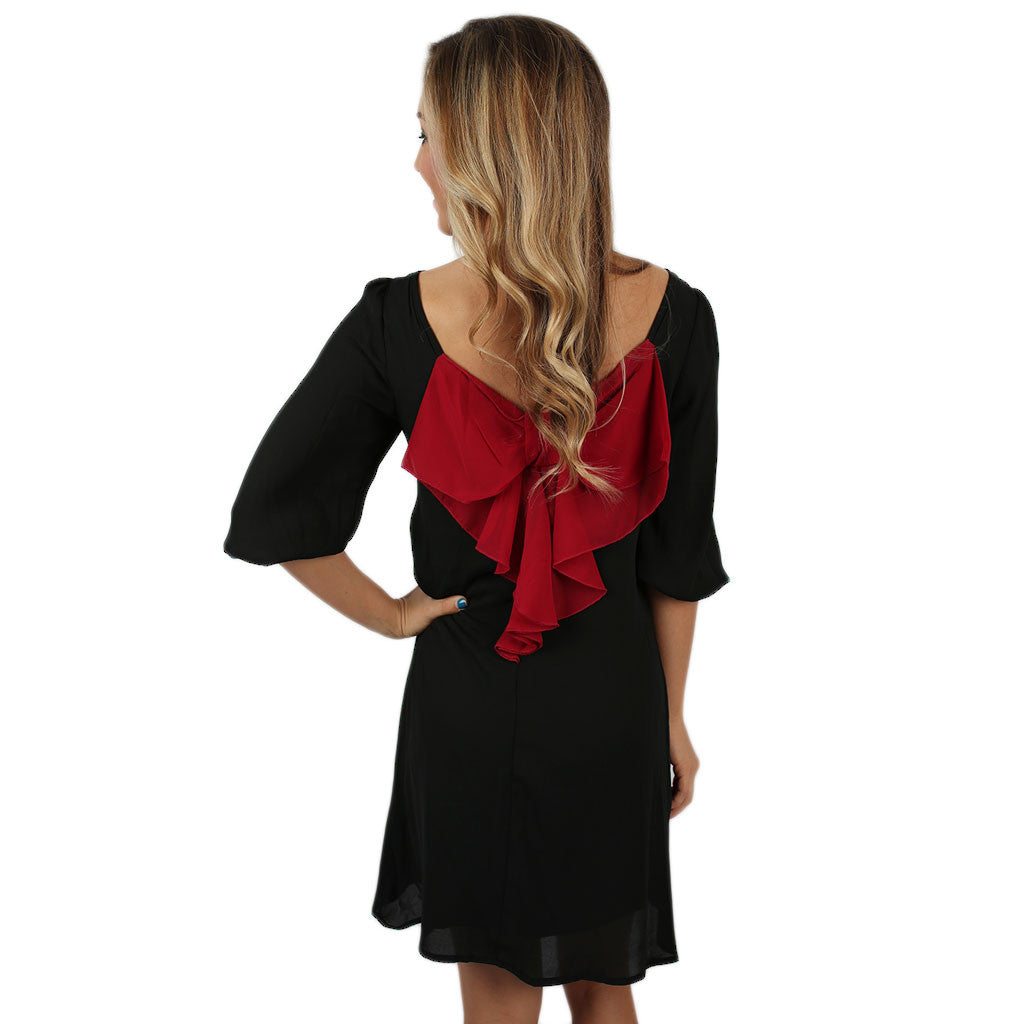 Bows & Kisses Dress Black