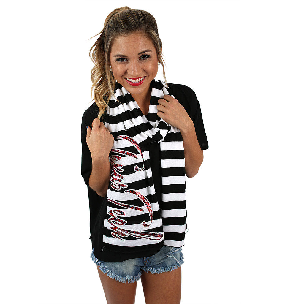 Stripe Scarf Texas Tech