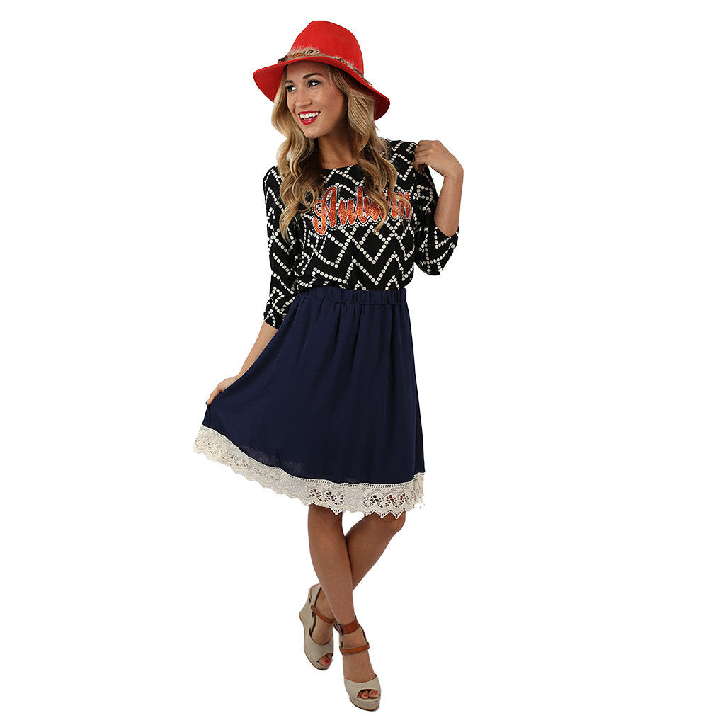 Southern Sipping Skirt Navy