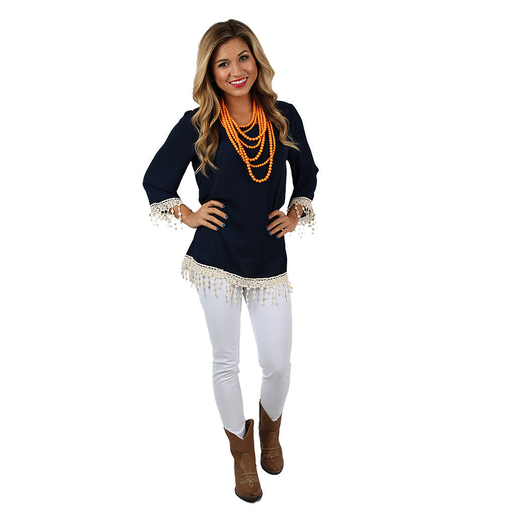 Countdown to Saturday Tunic Navy
