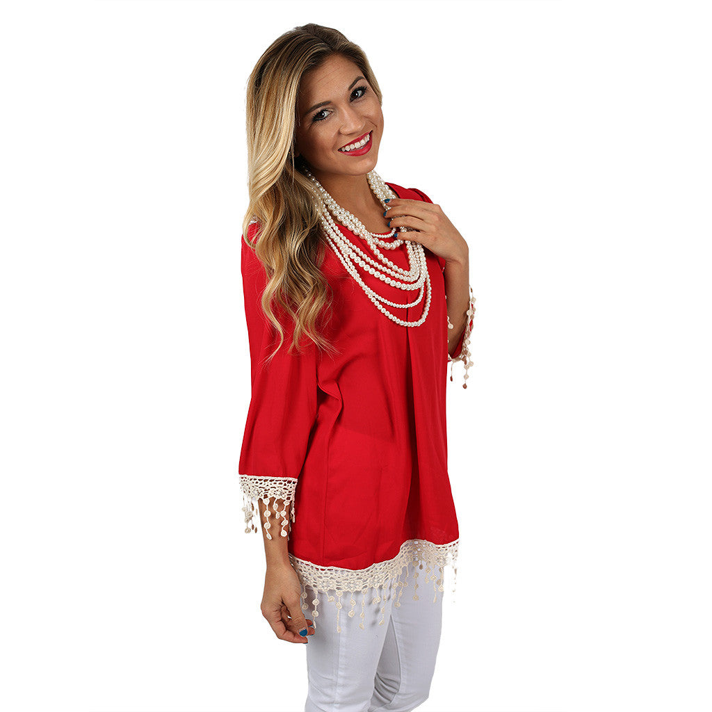 Countdown to Saturday Tunic Red