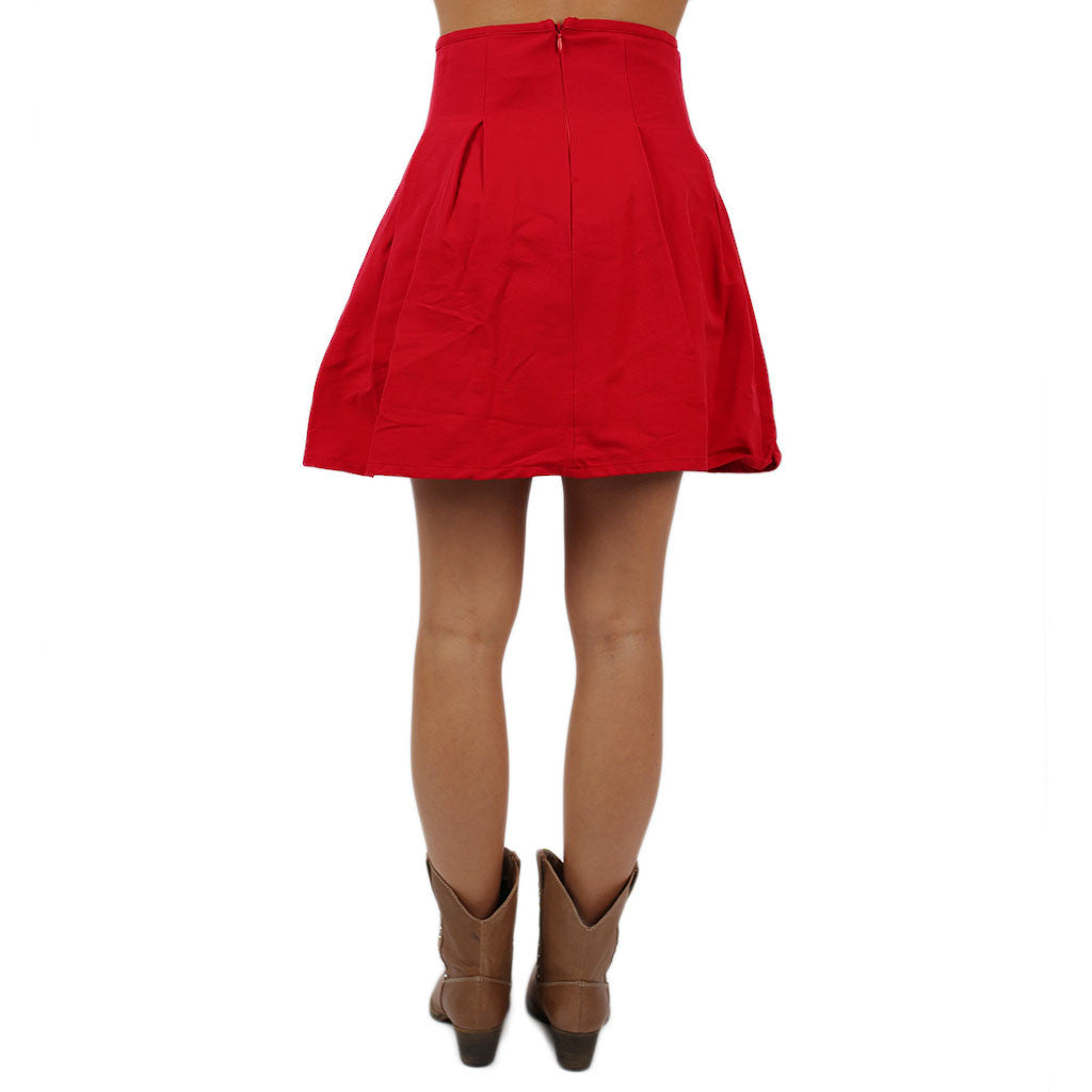 Feeling Cheerful Skirt Red