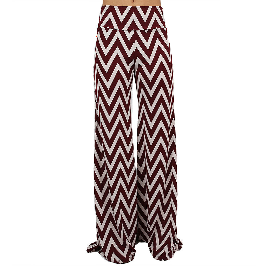 Striped Desire Pants Burgundy