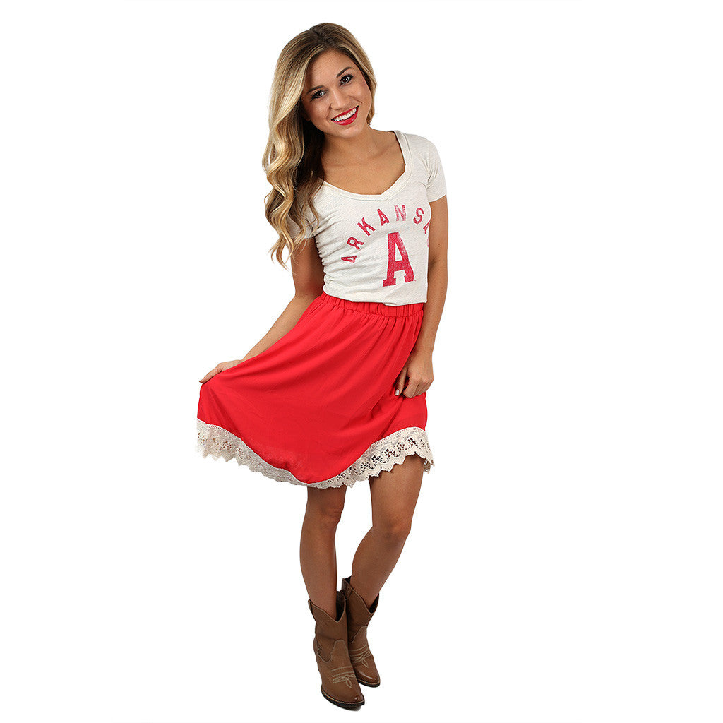 Southern Sipping Skirt Red