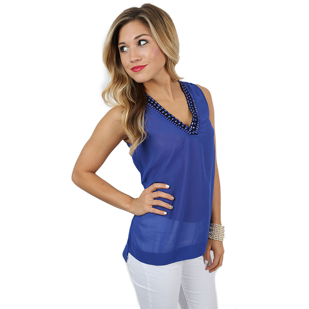 Original Beauty Tank Royal Blue