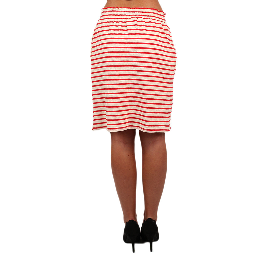 Stripe Me Pretty Skirt Red