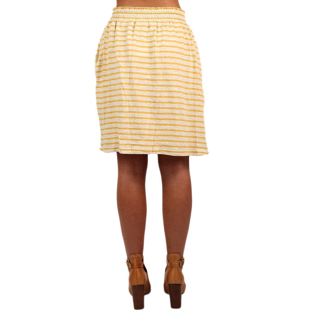 Stripe Me Pretty Skirt Yellow